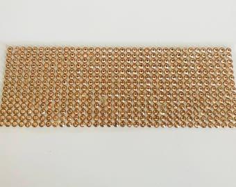 504 rhinestone stickers 5mm gold plated