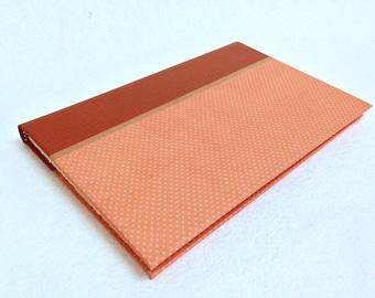 Handmade Journal with Peach Dot Pattern