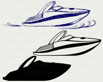 Powerboat svg/boat clipart/powerboat svg/boat silhouette/powerboat cricut/boat cut files/boat clip art/digital download/designs/svg
