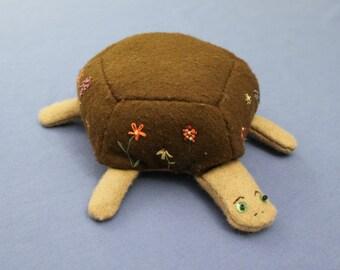 SALE! Handmade Wool Felt Turtle