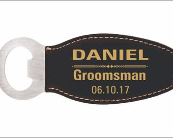 Gifts for Groomsmen - Groomsman Gift - Personalized Best Man Gift - Magnetic Bottle Opener - Wedding Party Favors, LBO001