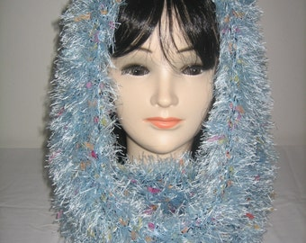 3 in 1 hooded Snood wool hairy fantasy