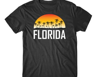 Florida Sunset And Palm Trees Beach Vacation T-Shirt