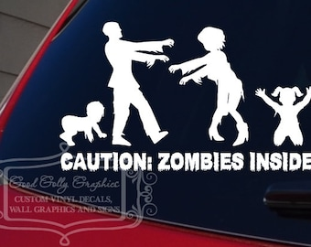 Zombie family decal we ate your stick family