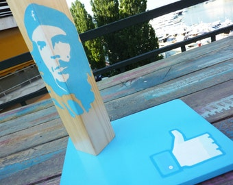 Viva la revolution..2015 style! SALES 20% OFF. Unique, handmade, wooden table lamp