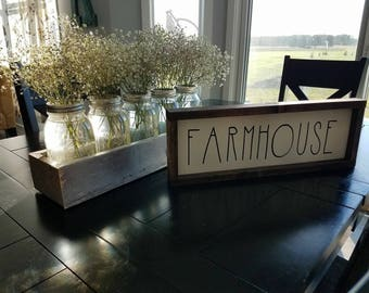 Farmhouse painted solid wood sign