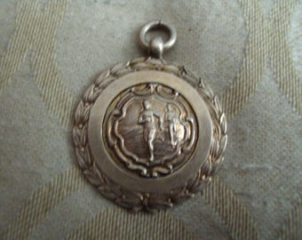 vintage athletic solid silver medal 1944