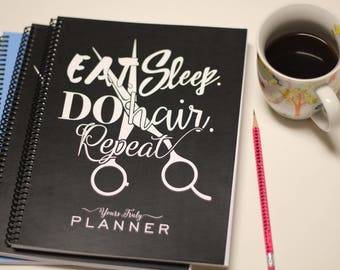 2018 Hairstylist Day Planner | Black with Quote | Weekly | 13 months Jan 18 - Jan 19 | Appointment Book | Scheduling | Salon | Dated | Gift