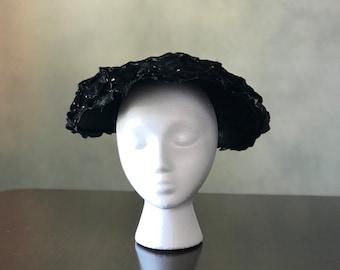 Velvet Clamshell Hat