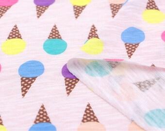 Slub Knit Fabric Icecream Pink By The Yard