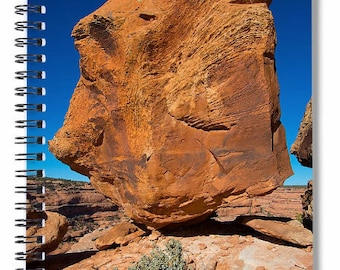 Spiral Notebook, Southwest Art, Geology Photo, Utah Photography, Balanced Rock, Writing Journal, Planner, Picture, Photo Cover, Blank Book