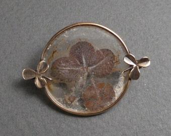 9K Victorian Shamrock brooch