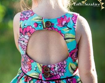 Charlotte Dress & Top, PDF Sewing Pattern, pdf dress pattern, cutout dress pattern, girls dress pdf, baby sewing pattern, dress patterns