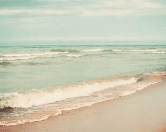 Seascape photography, ocean art, dreamy photograph, nautical, beach decor, wall art, landscape - Dreamy Sea