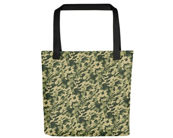 Camouflage Tote Bag, Army Style Military Camo Tote Bag, Decorate your Tote Bag with Iron On Patches, Shopping Tote Bag for Men and Women