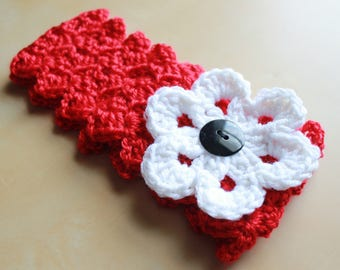 Simply Adorable U Crochet Womens Headband with Interchangeable Flower