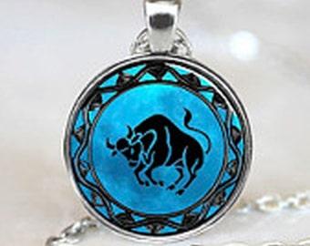 Taurus Pendant & Gift bag, Astrology Pendant, Necklace, Taurus Necklace, Taurus Jewellery, Star Sign, Jewellery, Jewelry, Zodiac, Gift