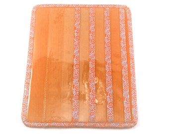 ORANGE color Tract and Magazine holder with Contact Card and Meeting Invitation pockets