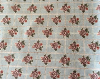 """Tour des Fleurs Blue Floral Fabric - 100% cotton 44/45"""" - BTY - or 1/2 Yard  - Holly Hill Fabric"""