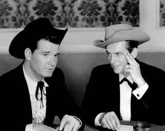 "Jack Kelly & James Garner in the TV Western Series ""Maverick"" - 5X7 or 8X10 Publicity Photo (DA-116)"