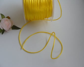 3 m DrawString jewelry pouch soft yellow 2 mm diameter ornament gift box