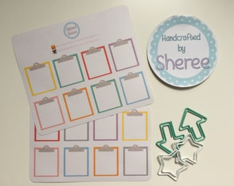 Clipboard Planner, Penpal and Journalling Stickers