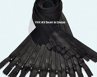 48 Inch Zippers YKK # 3 Dress Zipper~ Closed End (by each) Choose Color~ZipperStop Wholesale Authorized Distributor YKK®