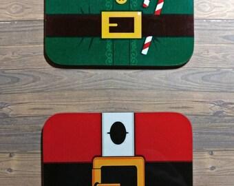 Christmas Coasters. Santa coaster. Elf coaster