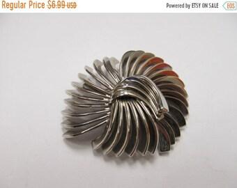 ON SALE Vintage Silver Tone Angled Swirl Pin Item K # 231