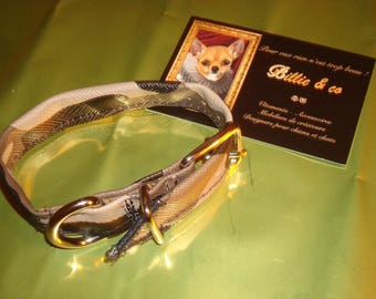 Faux leather camouflage dog or cat collar
