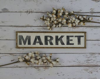 Market Sign, Rustic Pantry Sign, Farmhouse Style, Farmhouse Decor, Kitchen Sign, Wood Market Sign, Kitchen Wall Decor, Rustic Wood Sign