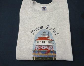 Embroidered Lighthouse Drum Point Sweatshirt