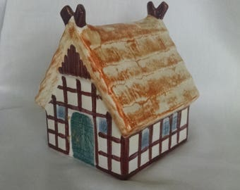Goebel West Germany  Ceramic Thatch Roof House Bank-FREE SHIPPING