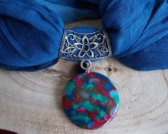 loop scarf or headscarf in polymer clay jewelry