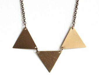 Brass Bunting Necklace