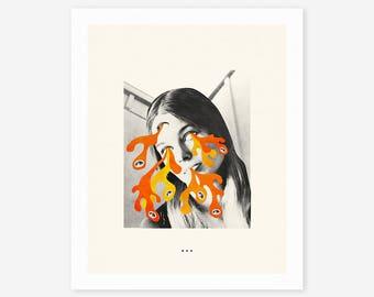 LSD (Giclée Fine Art Print/Photo Print/Poster Print) Surreal Collage Art by Jazzberry Blue