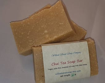 Handcrafted Chai Tea Soap - Vegan Essential Oil Soap - Natural Soap - Palm Free Soap - Vegan Skin Care - Handmade Shea Butter Soap