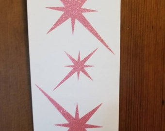 MCM ATOMIC STARBURST star trio for walls bathroom decor kitchens mid mod mid century modern sizes small medium large