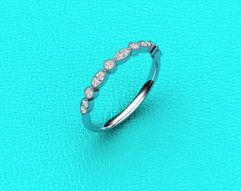 2mm Stackable diamond band