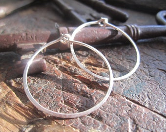 Classic Sterling Hoop Earrings