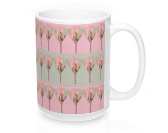 Watercolor Design Protea Flower South Africa Mug 15Oz