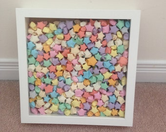500 Origami Stars in a Shadowbox