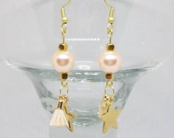 Star and Tassel Earrings
