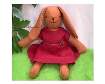 Bunny, 16inch/40cm made of wool felt,stuffed with merino wool roving for all ages