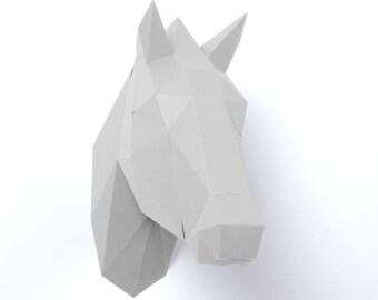 Low Poly Paper Horse: precut, prefold, no glue