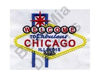 Chicago Illinois - Machine Embroidery Design, Chicago, Illinois