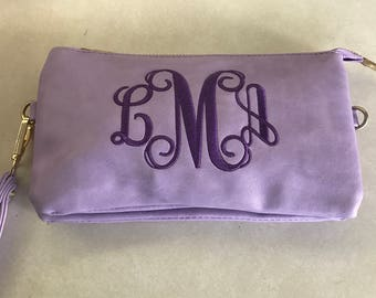 Monogram clutch purse