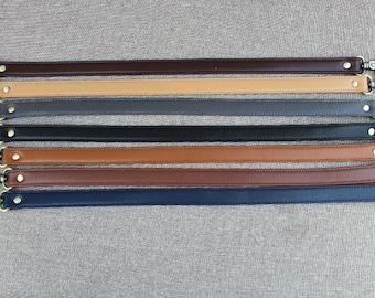 1 PCS of High Quality Adjustable 57.5cm / 23 inch Bronze Dermis Leather Bag Purse Strap, 2cm / 0.6 inch width, D0037