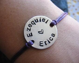 Couples Bracelet Custom Bracelet for Couples - Boyfriend Bracelet Girlfriend Bracelet - Mens Bracelet  Womens Bracelet - Friendship Bracelet