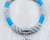Grey Rope Necklace with Maine Sea Glass